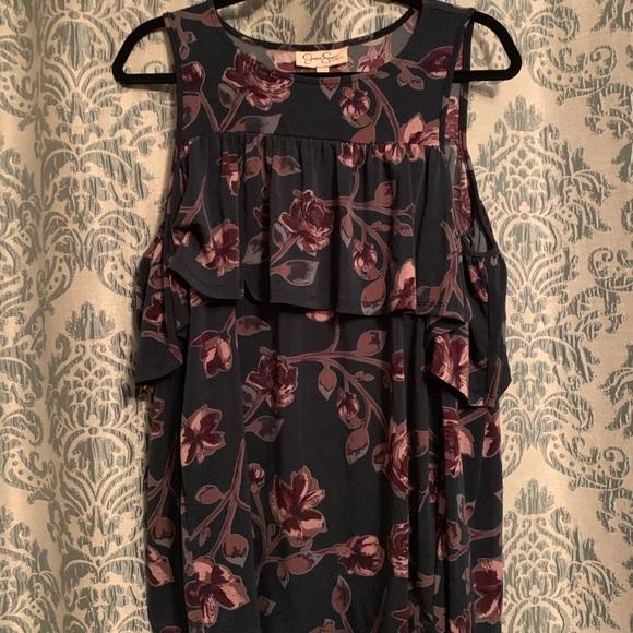 Jessica Simpson Tops - Floral cold shoulder top